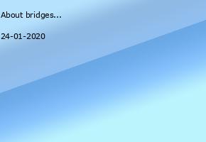 About bridges not walls!