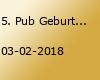 5. Pub Geburtstag - Livemusik