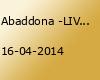 Abaddona -LIVE-