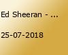 Ed Sheeran - Open Air - Hamburg (VVK)